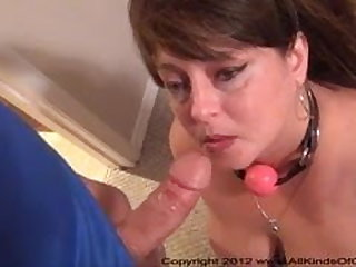 Big Tit Anal Mom Gets Ball Gagged and Butt Fucked