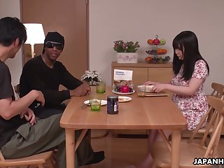 Kinky Satomi Nagase is more than happy to fingerfuck her wet Asian pussy