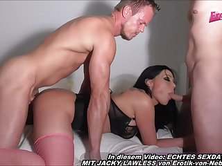 German Double Rear End Intercourse Gangbang With Latina - bum shagging