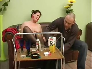 Mature girl turns into a horny bitch after a bottle of champagne