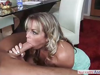 Sensual towheaded milf is getting nailed highly rock-hard, while her hubby is out of town