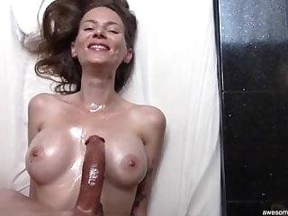 Beautiful Skinny MILF Loves My Curved Dick