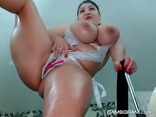 warm huge titties camslut webcam squirt - self-stimulation