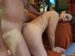 Busty mom leaves younger neighbor to fuck her when home alone
