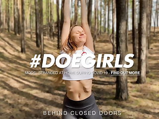 DOEGIRLS - Dildo Play Into The Woods With Sexy Stella Flex