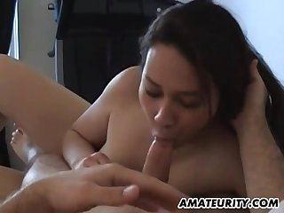 Amateur Chinese Brunette Mature Fucks On The Bed