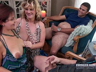 Wives with big saggy tits blowjob