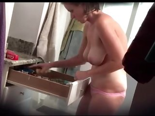 Wife Showers Before Her Lover Comes Over