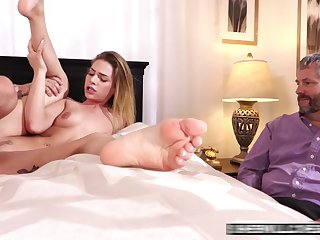 Rough Screwed In Front Of Her Husband - Cuckold Sex