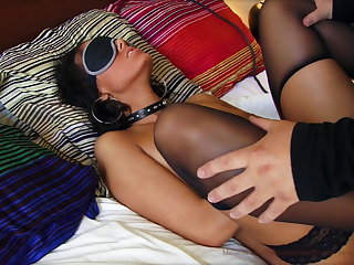 Melanie Memphis gets fucked while blindfolded and cuffed