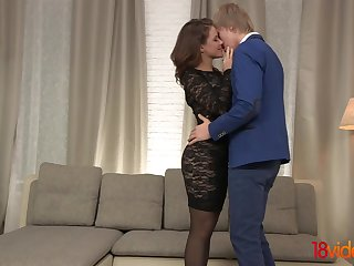 New girlfriend Emma Brown turned out to be hot and insatiable bitch