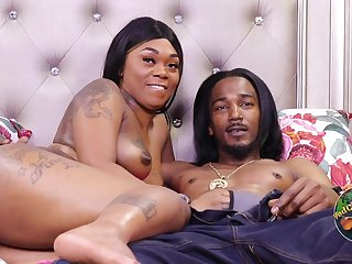 Tattooed black mom takes BBC & cum in homemade porn - ghetto sex