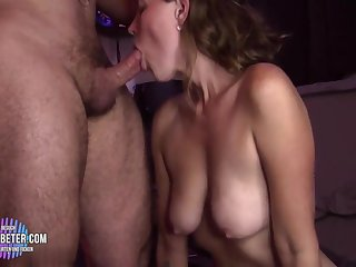 Begs This Old Man To Jizz In My Tight Pussy!