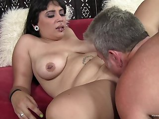 Chubby pierced babe gets fucked by an older man - Jay crew